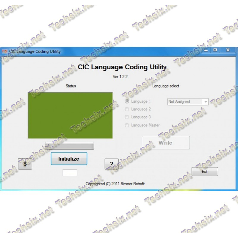BMW CIC language coding utility v1.2.2