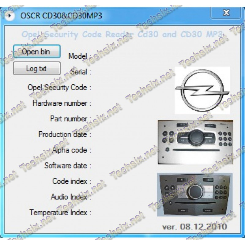 Opel Security Code reader CD30 MP3