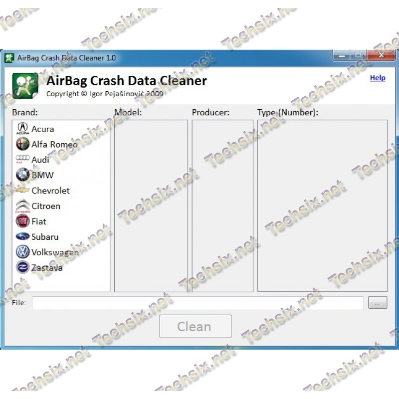 Icos AirBag Crash Data Cleaner 1.1