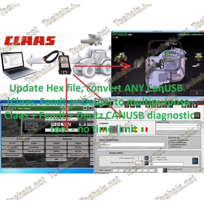 Claas Fendt Deutz CANUSB Update - Unlock project