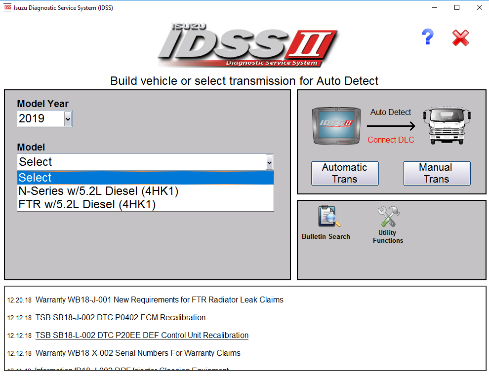 ISUZU IDSS II - 2019 with Activation patch US + Rest of World