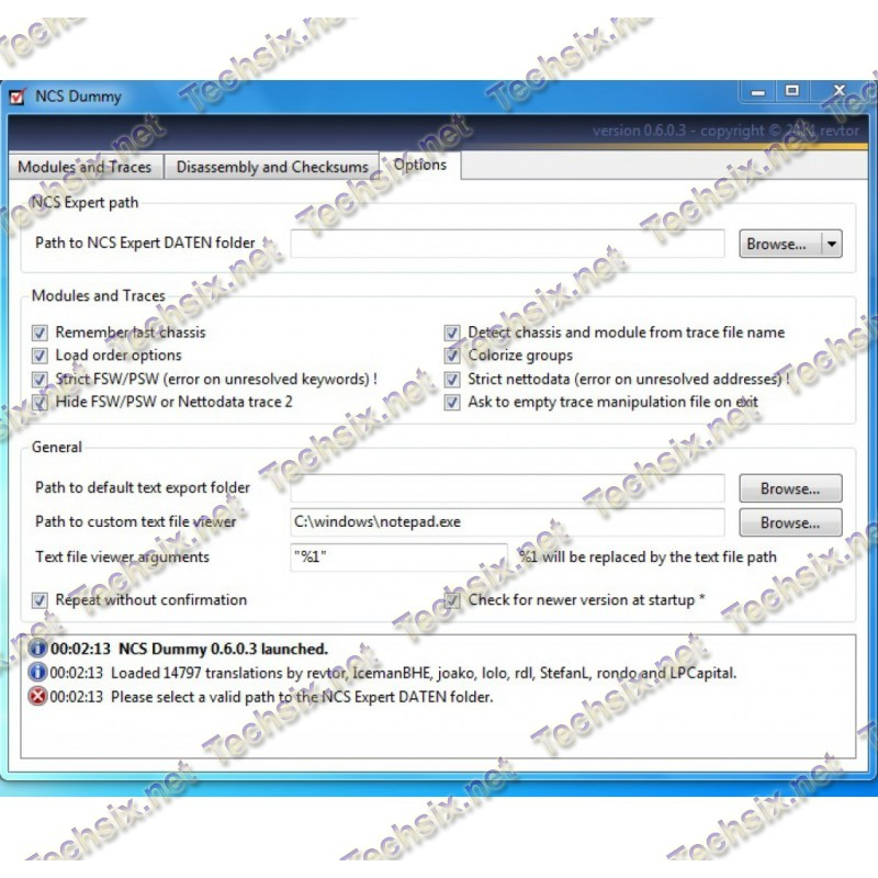 NCS Dummy v0.6.0.3 Full for NCS Expert 3 and 4, coding utility