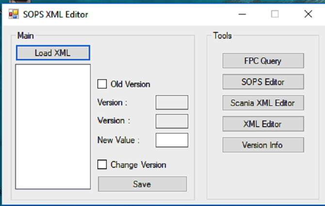 SCANIA New SOPS XML Editor