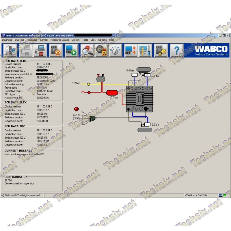 Wabco TEBS-es with activation and PINs