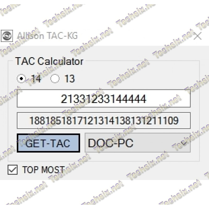 Allison DOC TAC Keygen v14 + password resset tool