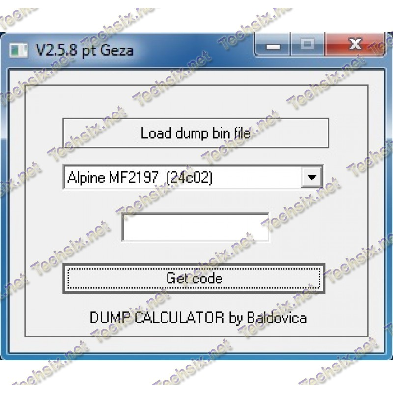 CarRadio DUMP decode tool by Baldovica v2.5.8