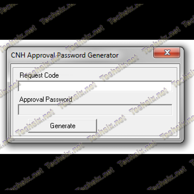 CNH Approval password generator