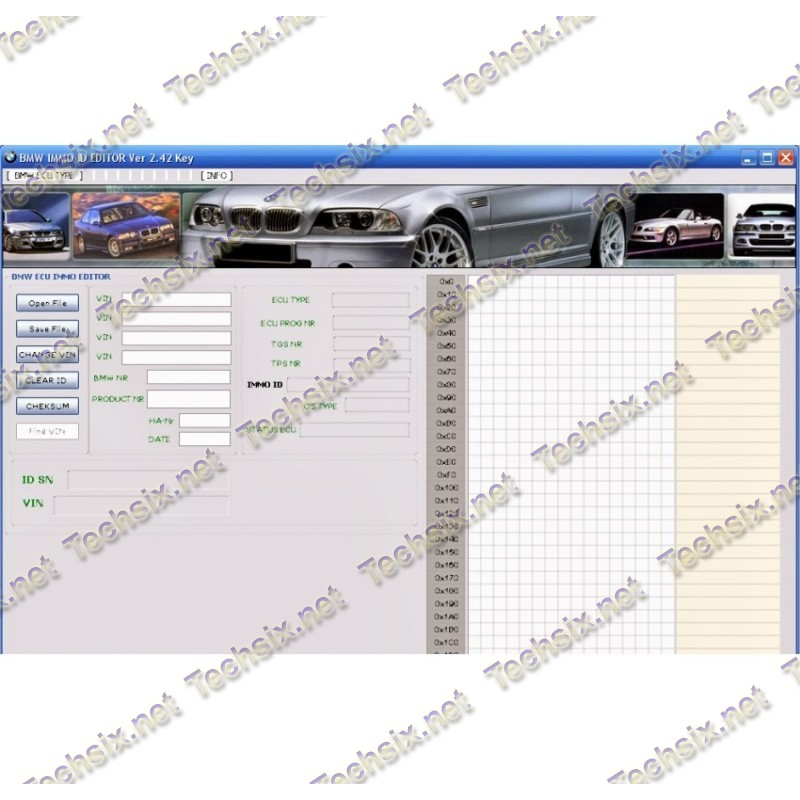 BMW IMMO ID Editor (Version 2.42)
